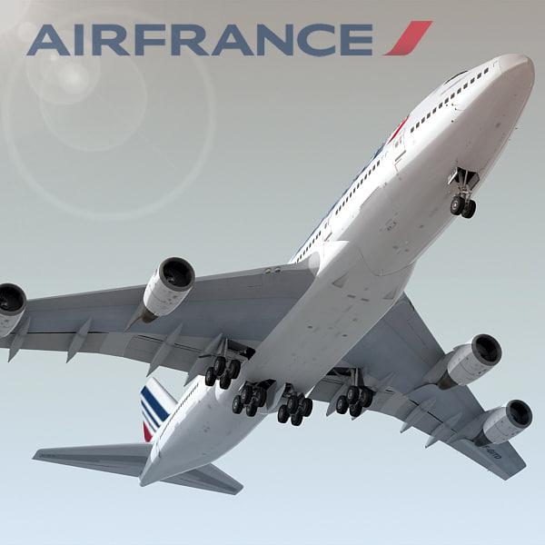 boeing 747-400 air france c4d