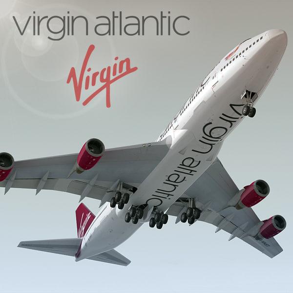 boeing 747-400 plane virgin atlantic max