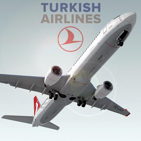 boeing 737-900 er plane 3d model