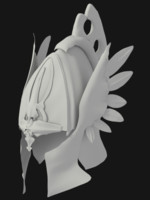 elvish helmet helm 3d model