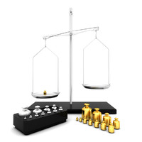 Laboratory Scale and Calibration Weight Set