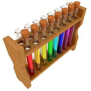 test tube rack cork obj