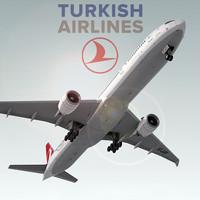 boeing 777-300 er plane 3d model