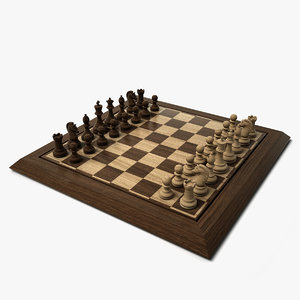 chess set hd 3d model