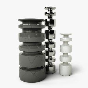 decorative vases dxf
