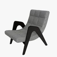 edie lounge chair 3d max