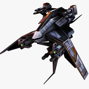 3d star fighter lighting