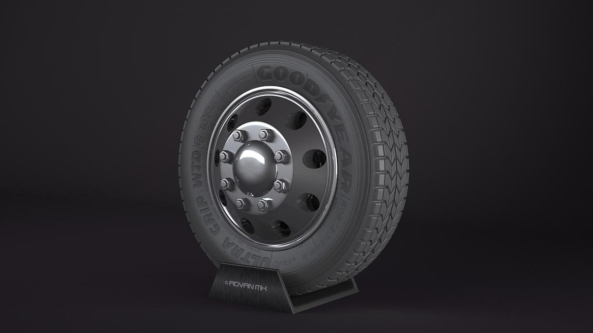 goodyear ultra grip wheel 3d max