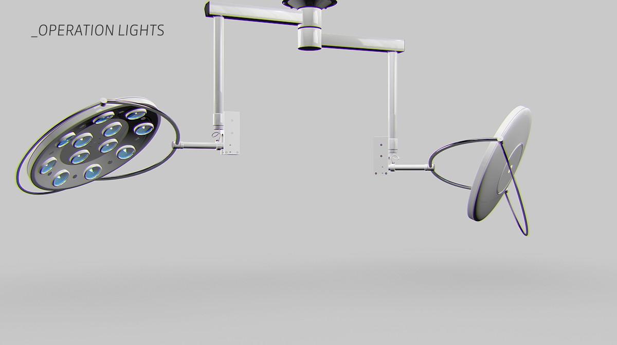 operation lights 3d model