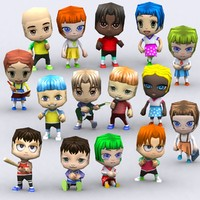 chibii people kids 3d 3ds