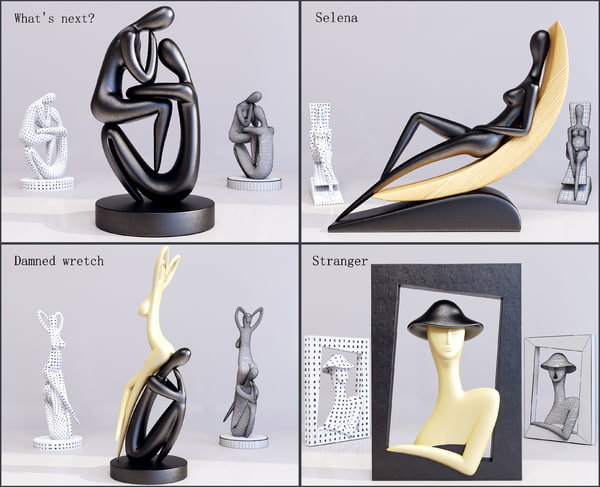 3d figurines 4 model