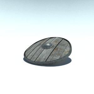 3d model shield old