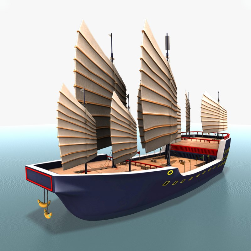 300 foot chinese junk 3d model