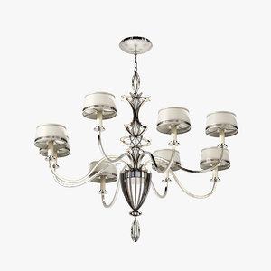 3d max fine lamps staccato silver