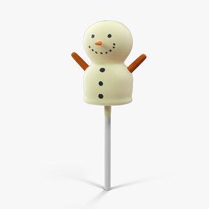 3d pop snowman