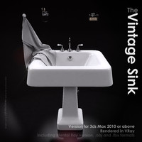 3d model classical wash basin