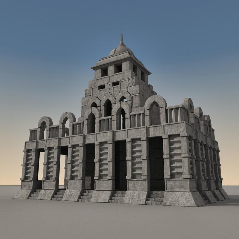 3d ancient fantasy building