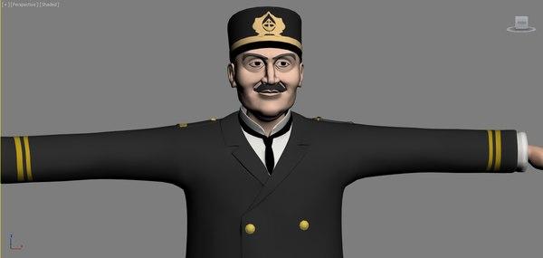 3d admiral toon ottoman model