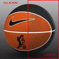 3d basket ball bicolor model