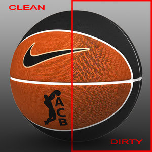 3d basket ball bicolor model