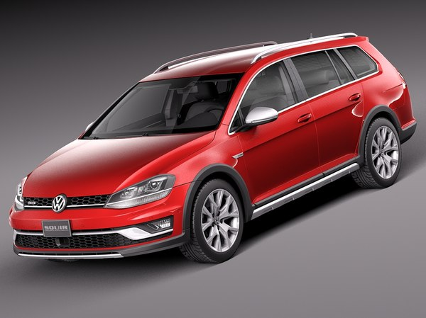 2015 volkswagen golf 3d model