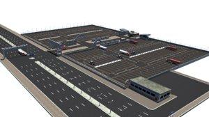 3d truck parking space model