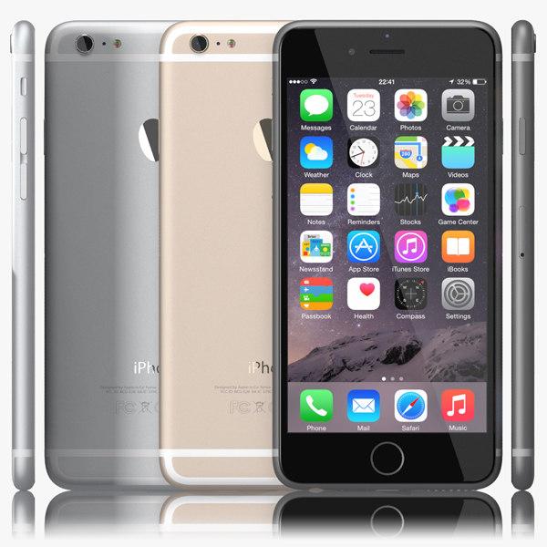 apple iphone 6 3d 3ds