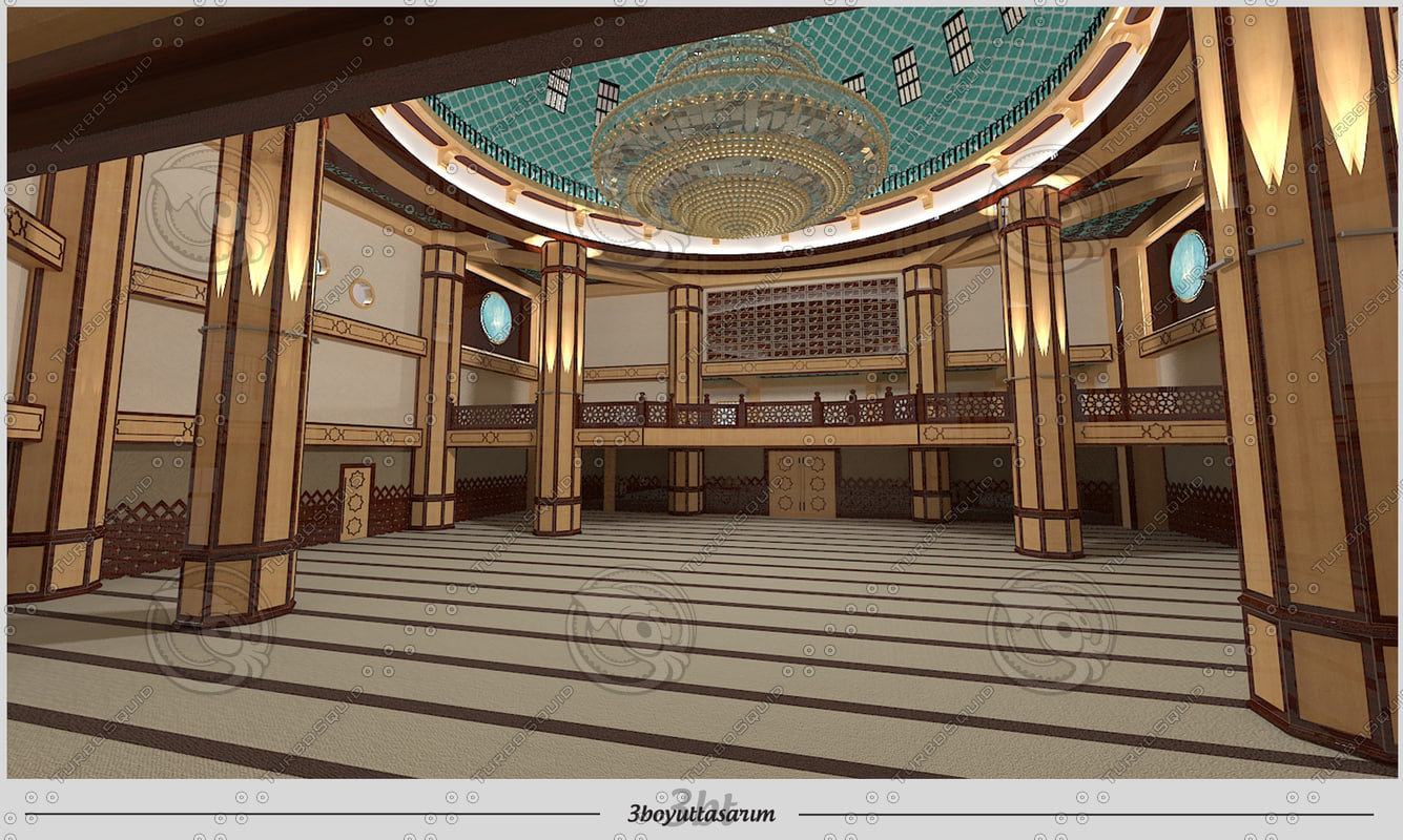 3ds max interior scene mosque for 3d max interior design