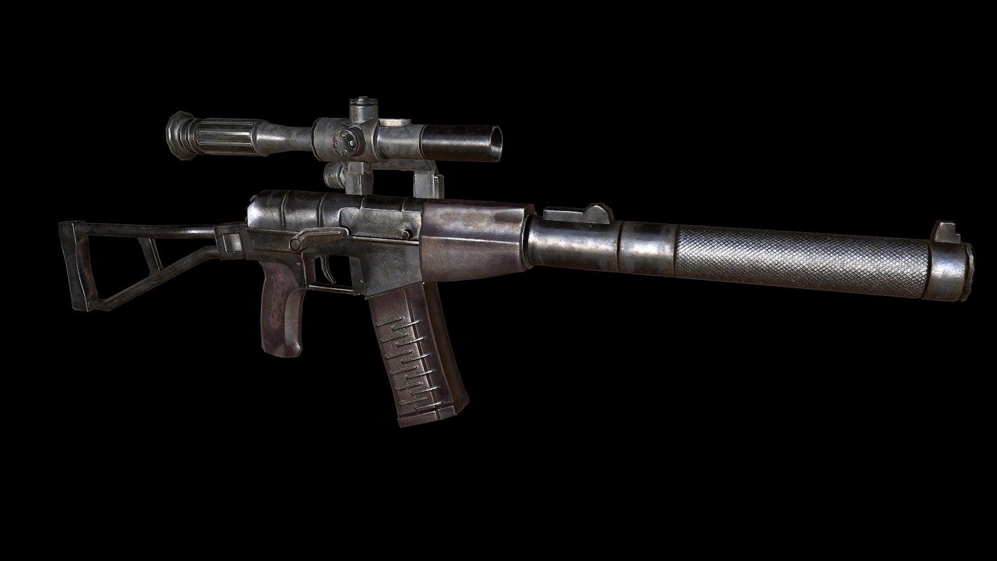 val rifle 3d model