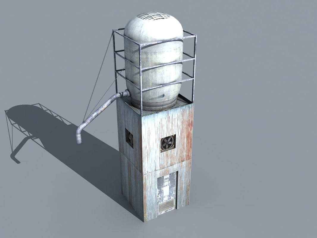 3d silo 01 model