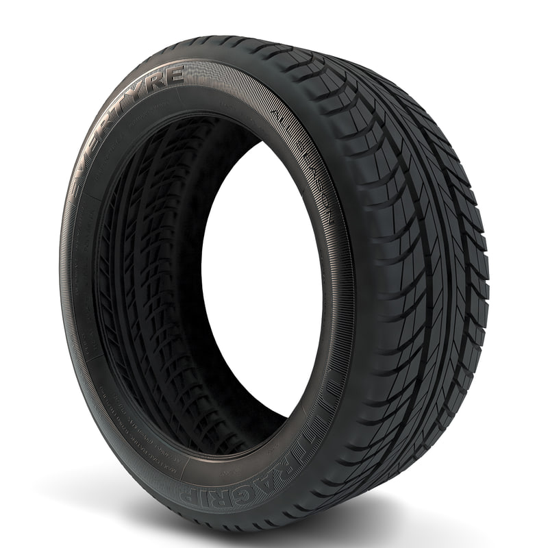 3d model goodyear ultragrip tires