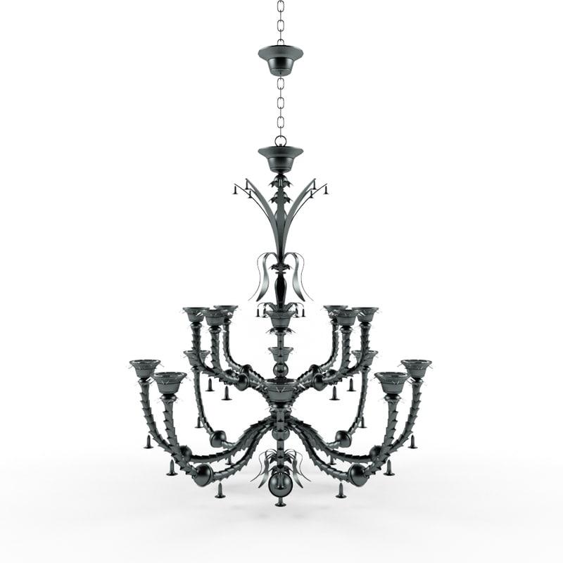 3dsmax metal chandelier