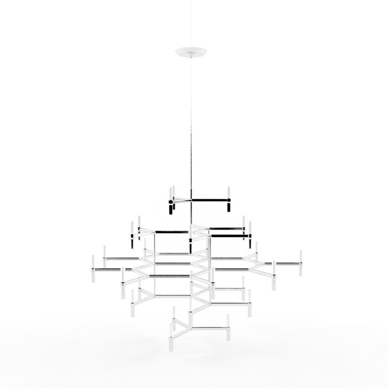 3d chrome chandelier model