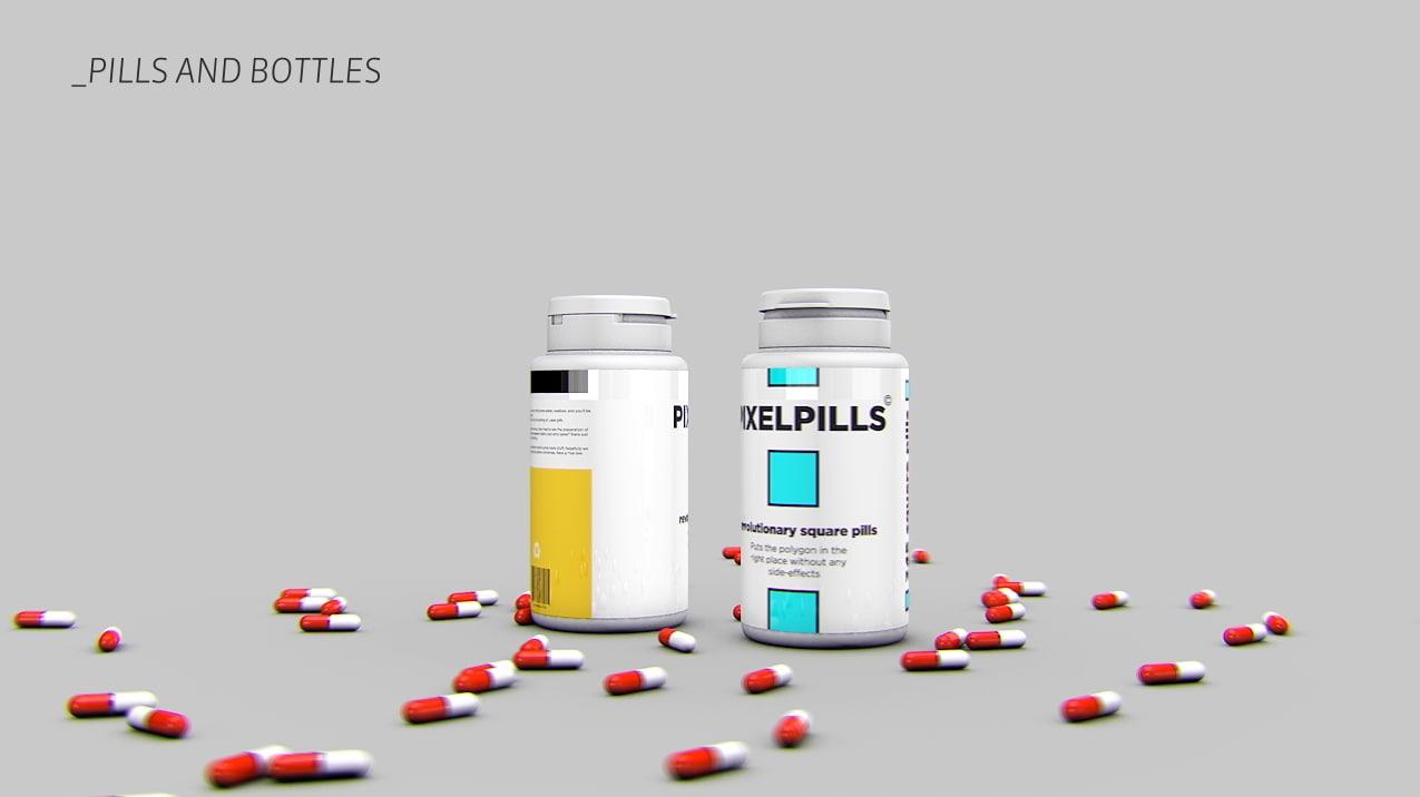 3d pill bottle model