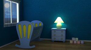 3d model baby room
