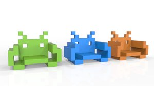 space invader chair 3d max