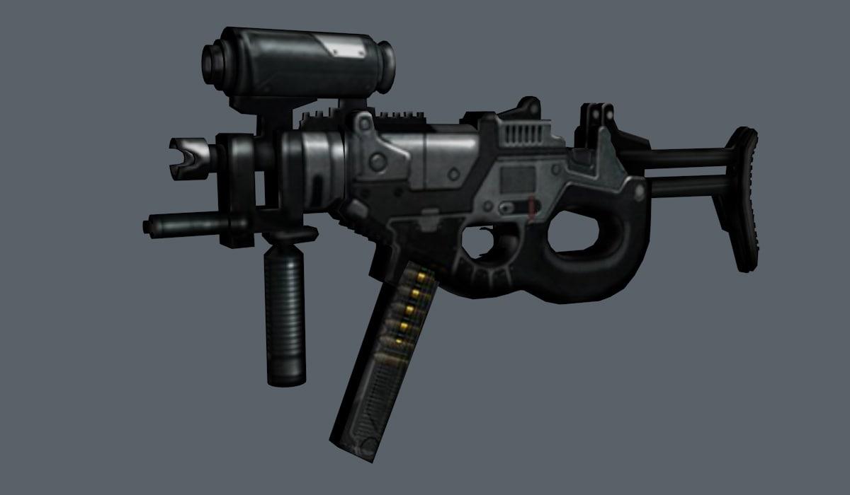 riddick weapon 3d c4d
