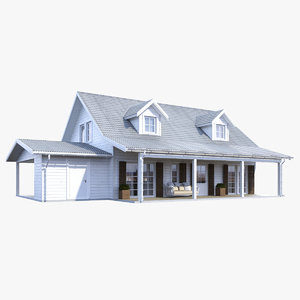 realistic house 3d model