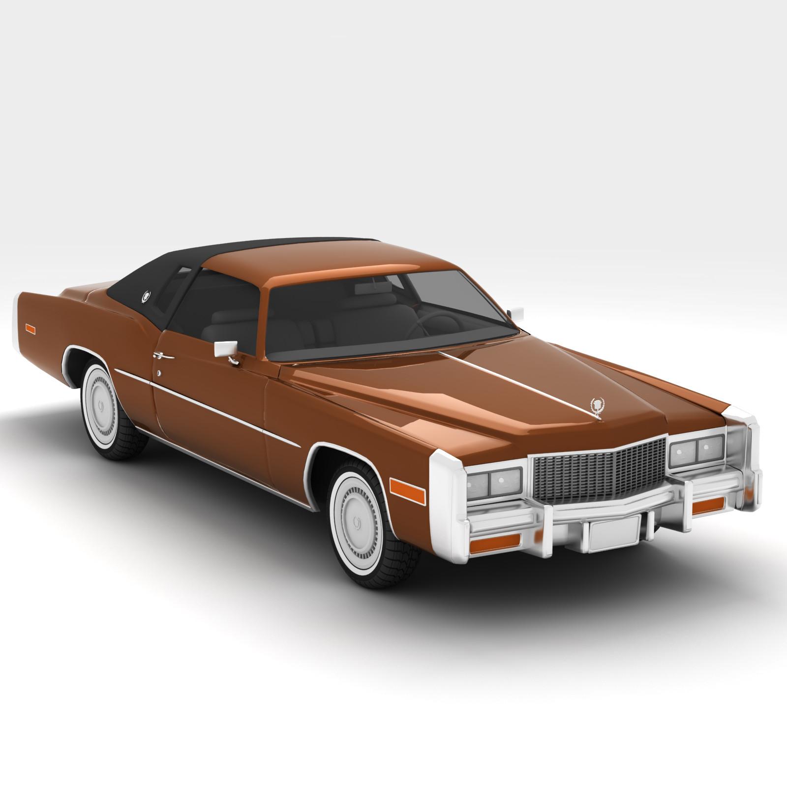 3d model cadillac eldorado 1978
