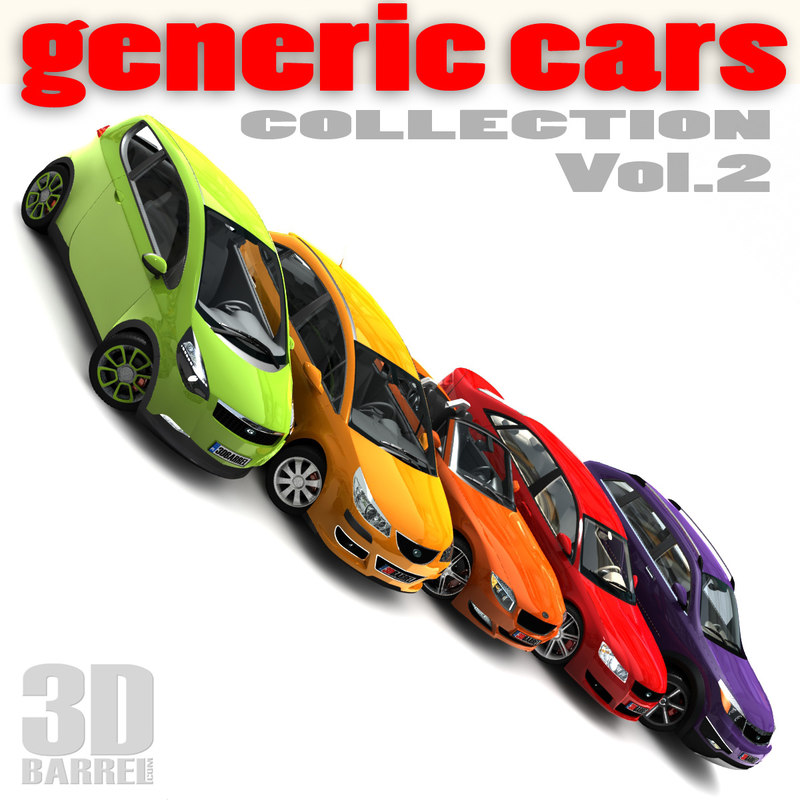 generic cars single 3d 3ds