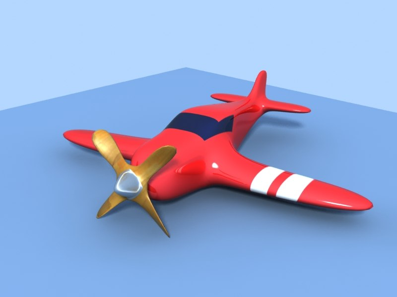 toy airplane reactor 3d model
