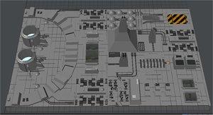 city sprawl death star 3d model