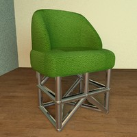 modern design chair room c4d