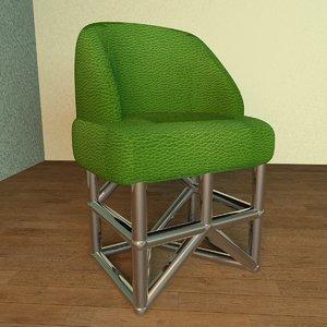 modern design chair room c4d
