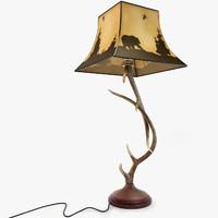 antler table lamp 3d model