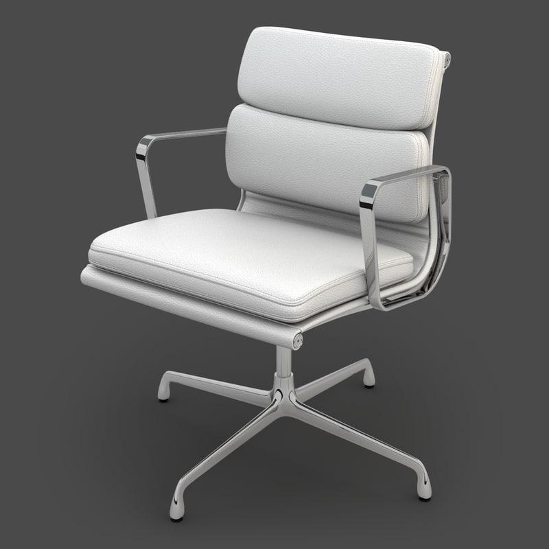 eames soft pad chair 3d max