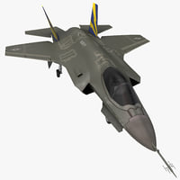 fighter aircraft lockheed martin 3d model