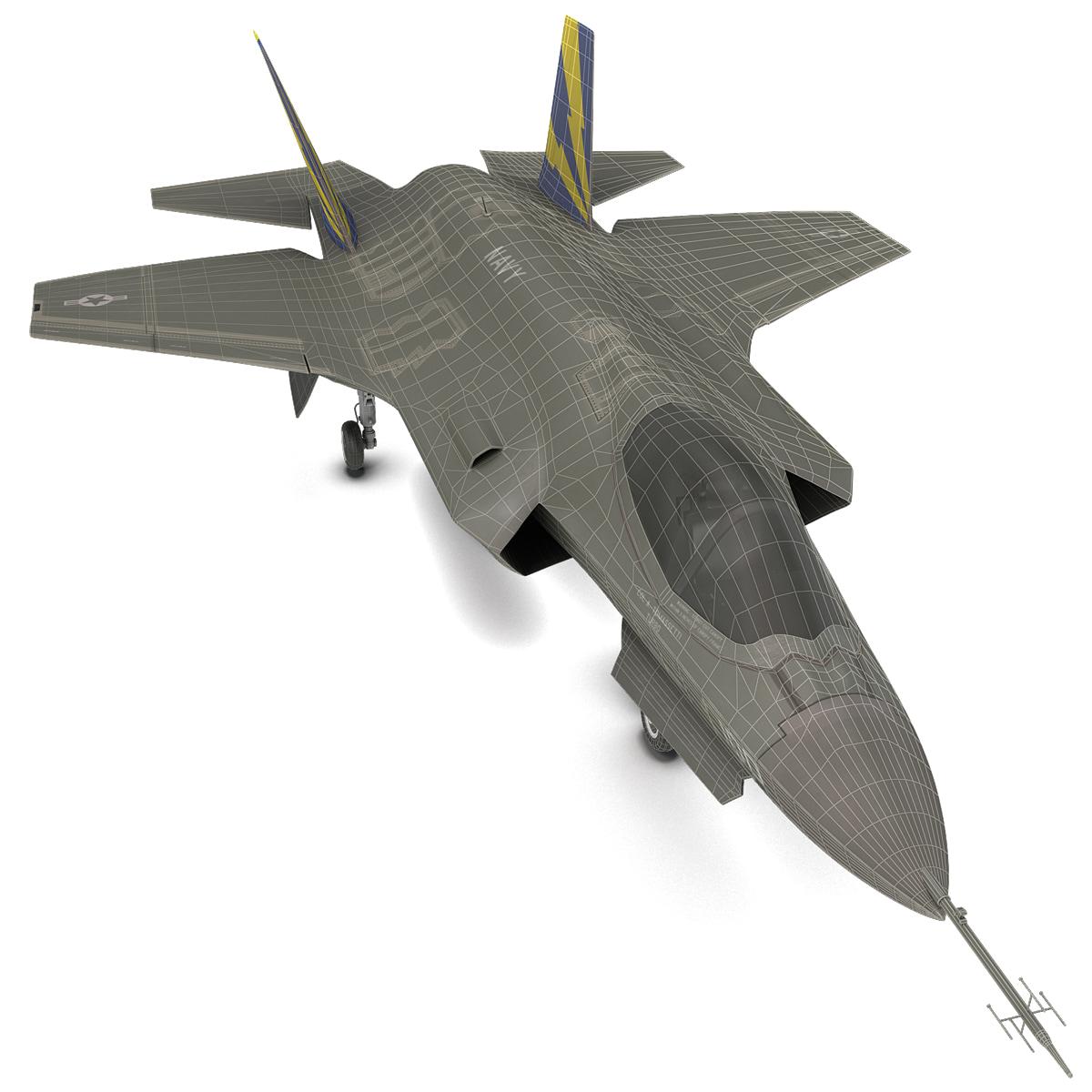 fighter aircraft lockheed martin 3d model