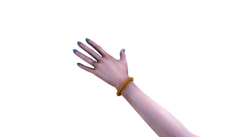 girl hand 3d ma
