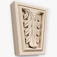 3dsmax key stone decor interior wall
